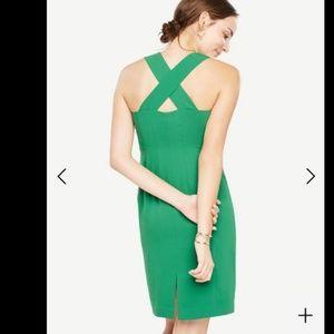 Ann Taylor Green Cross Back Dress NWT